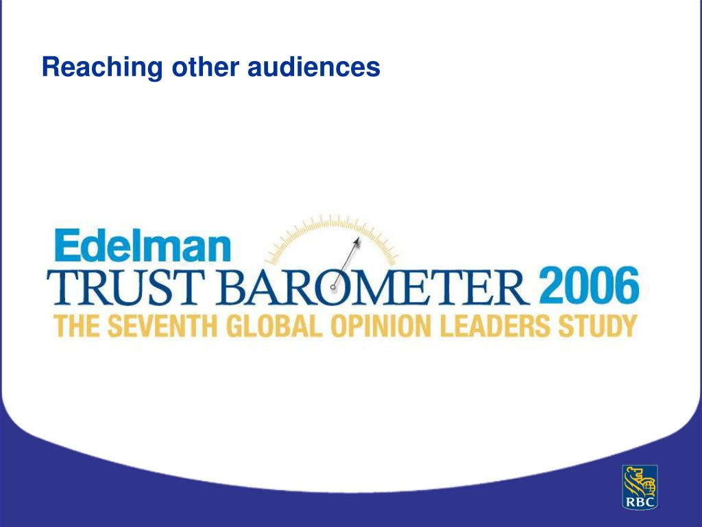 Reaching other audiences
