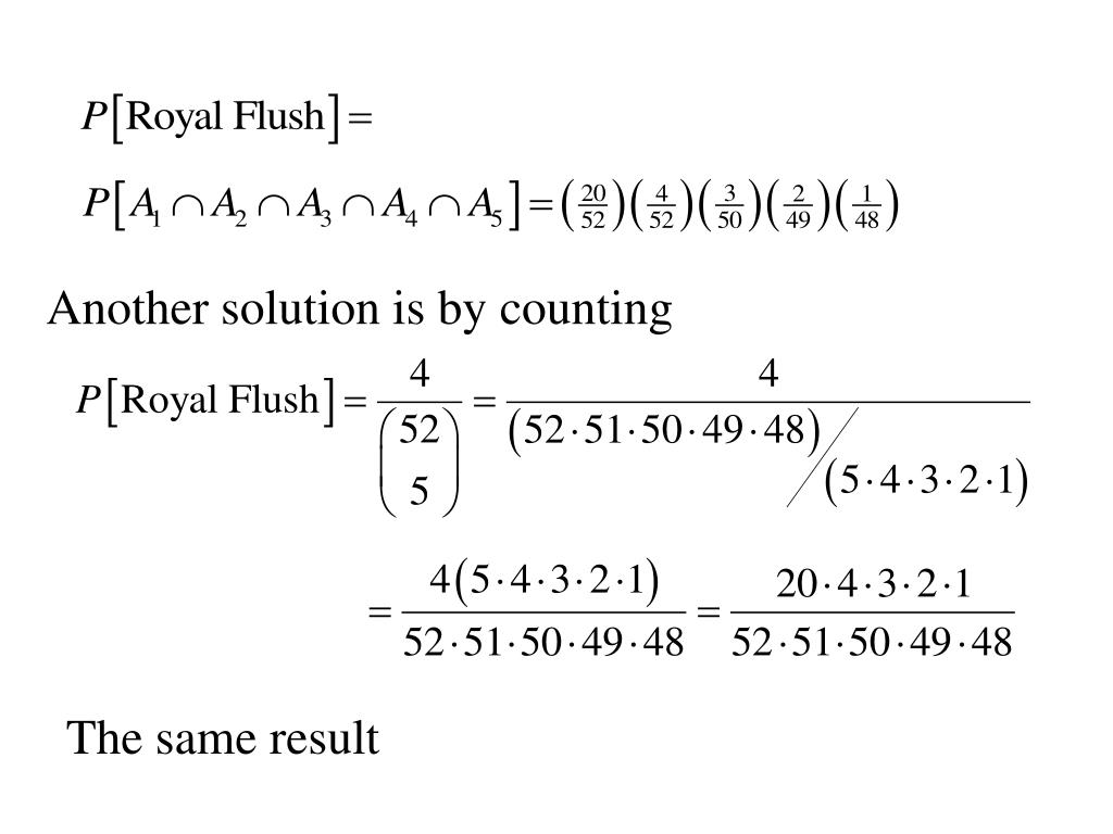 Another solution is by counting
