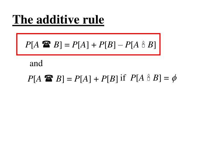 The additive rule