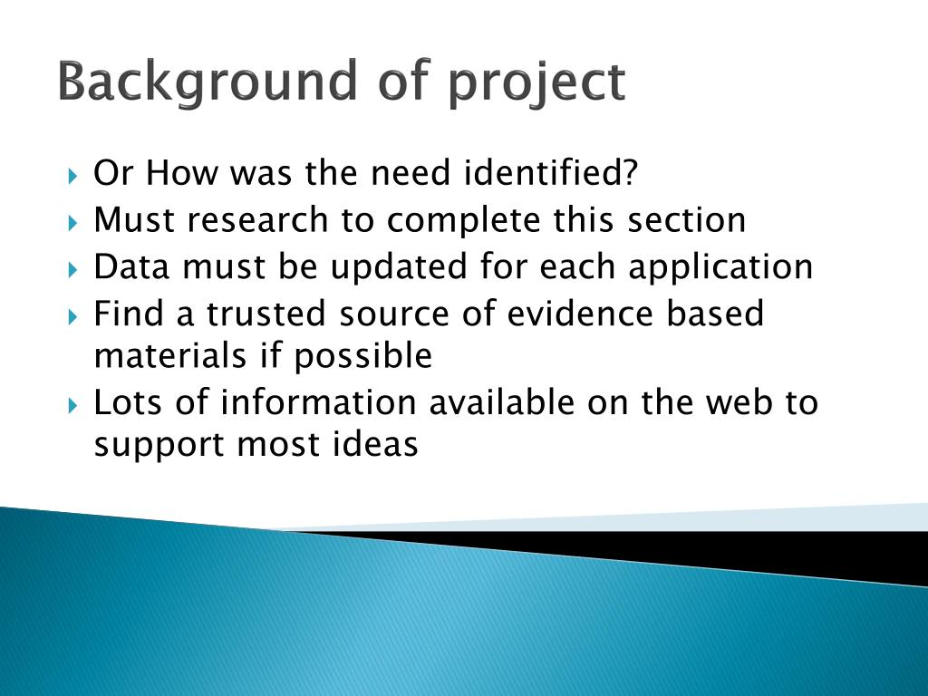 Background of project