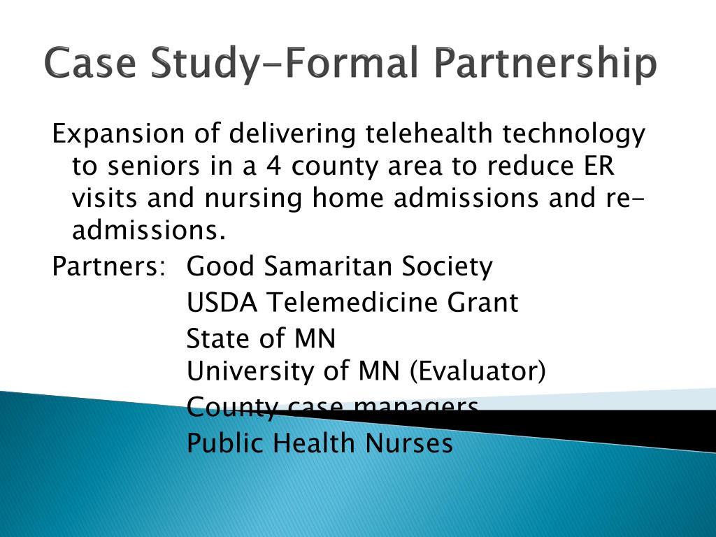 Case Study-Formal Partnership