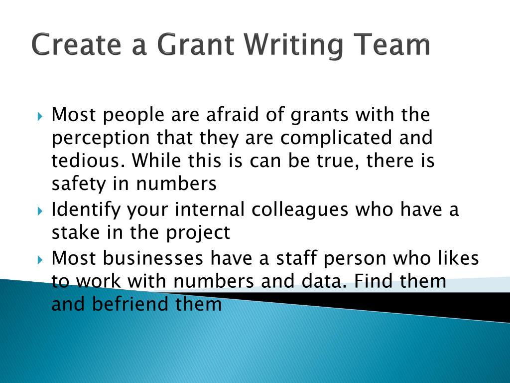 Create a Grant Writing Team
