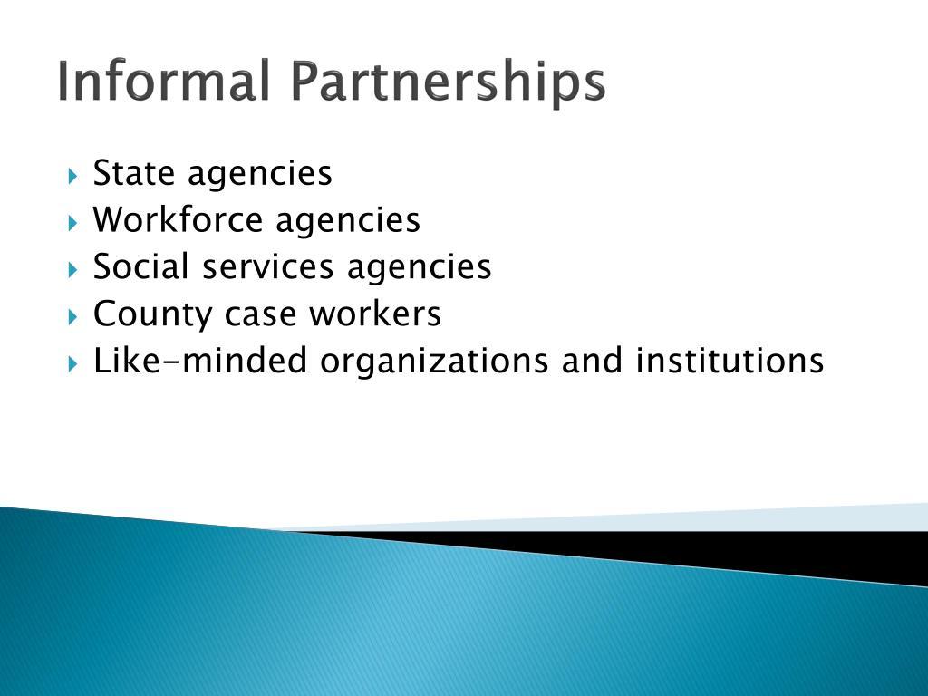 Informal Partnerships