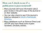 how can i check to see if a publication is peer reviewed