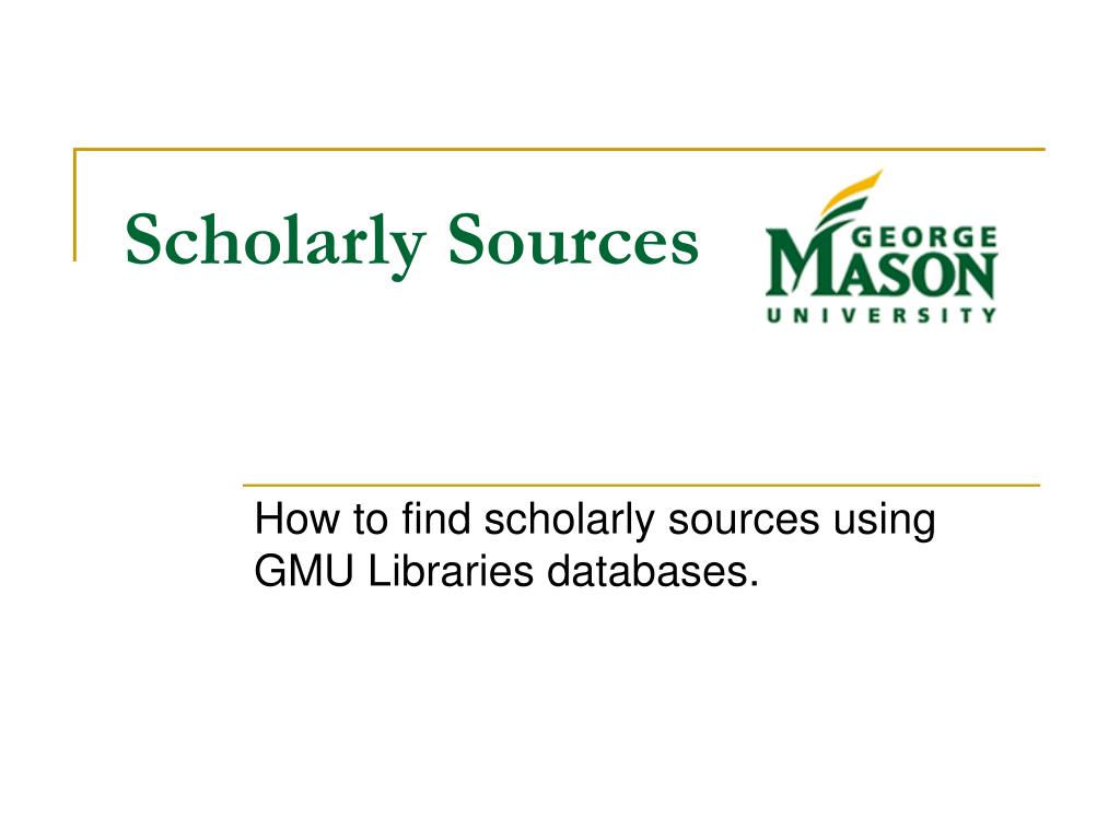 scholarly sources l.