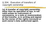 204 execution of transfers of copyright ownership