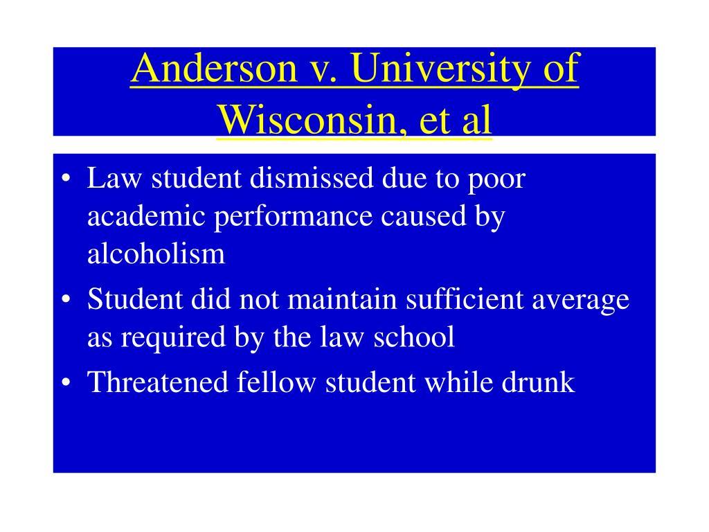 Anderson v. University of Wisconsin, et al