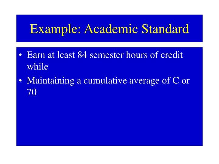 Example academic standard