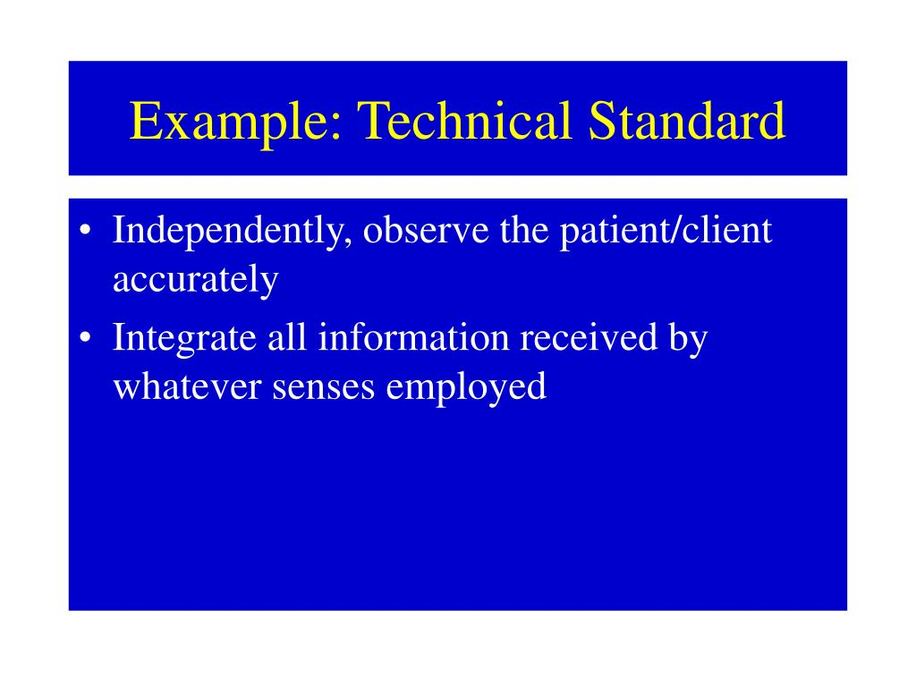 Example: Technical Standard