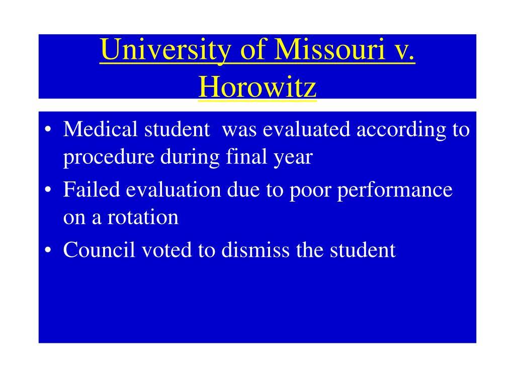University of Missouri v. Horowitz