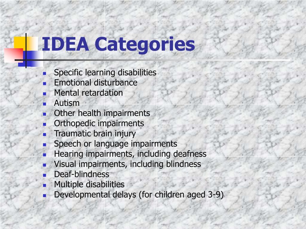 IDEA Categories