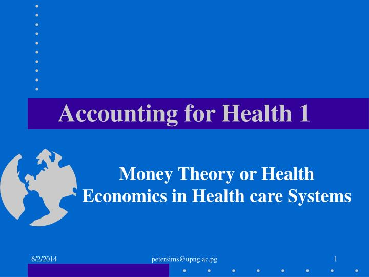 accounting for health 1