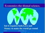 economics the dismal science