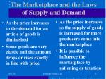 the marketplace and the laws of supply and demand
