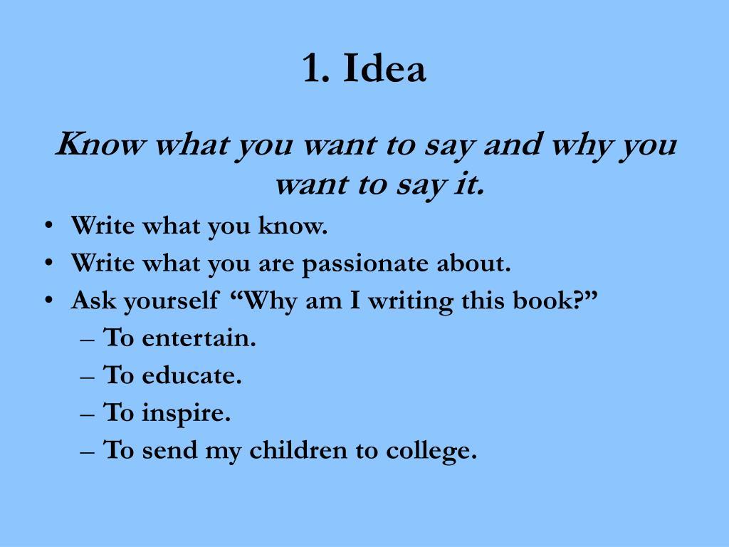 1. Idea