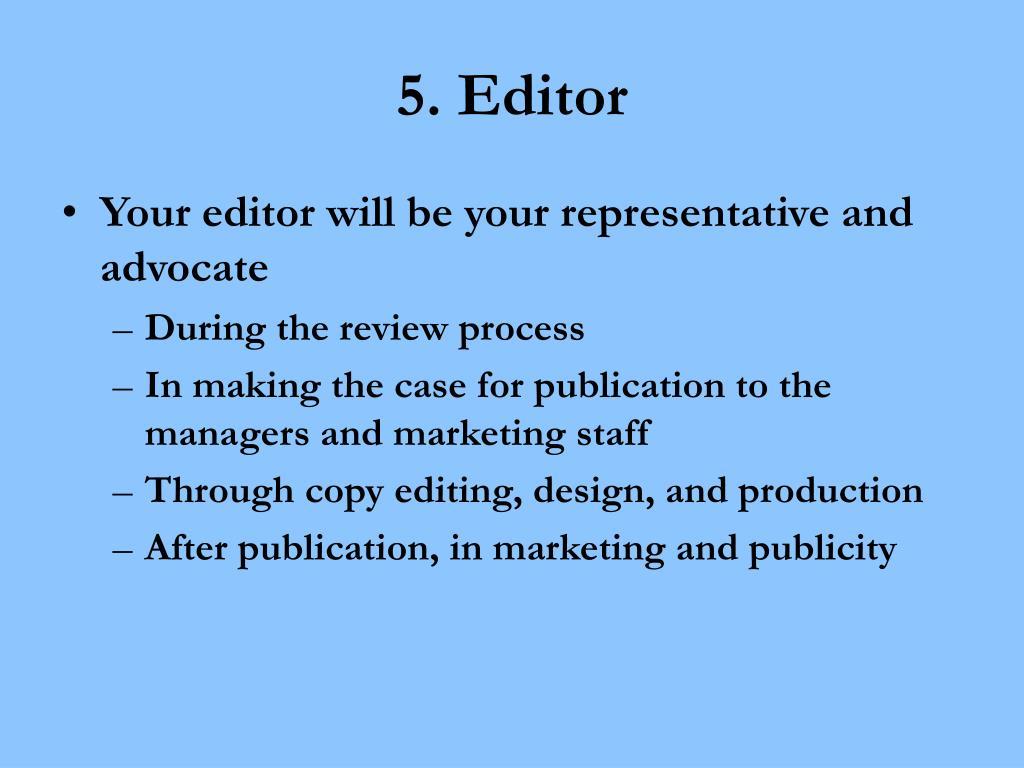 5. Editor