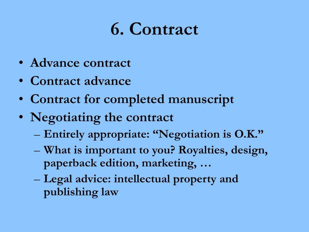 6. Contract