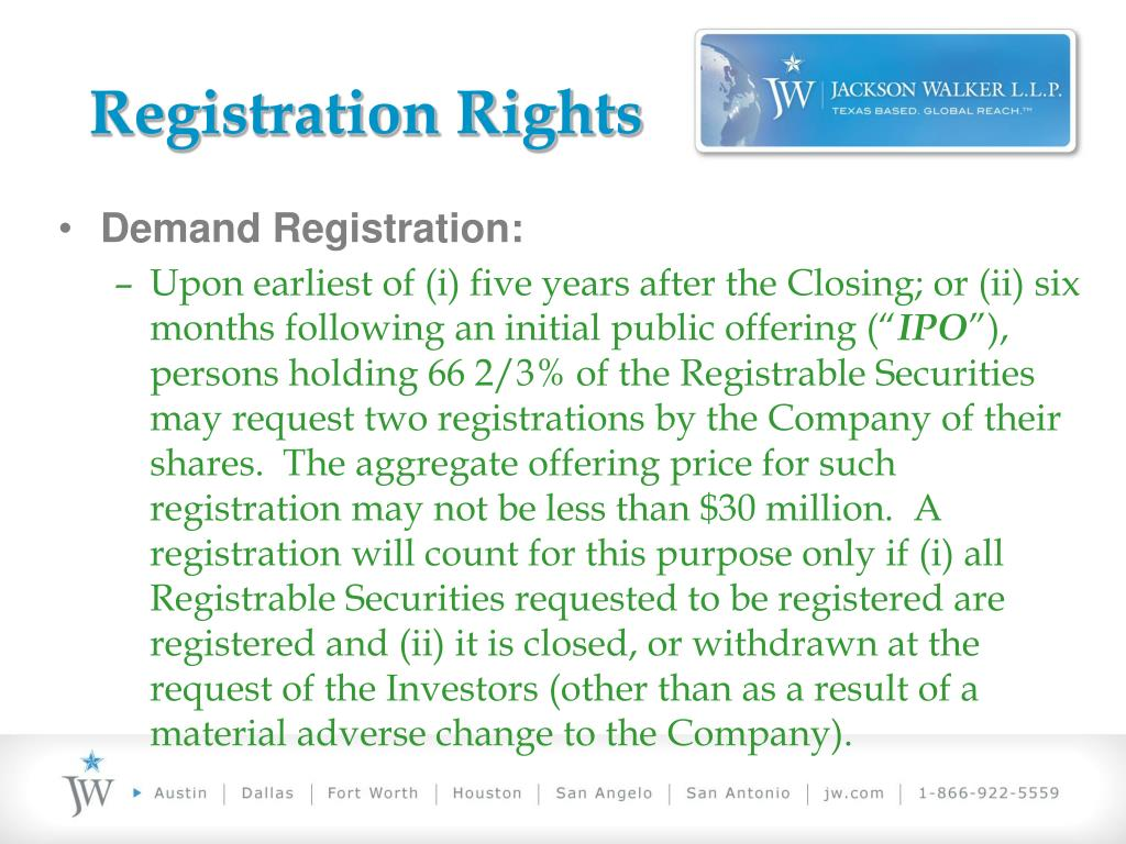Registration Rights