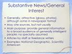 substantive news general interest