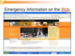 emergency information on the web