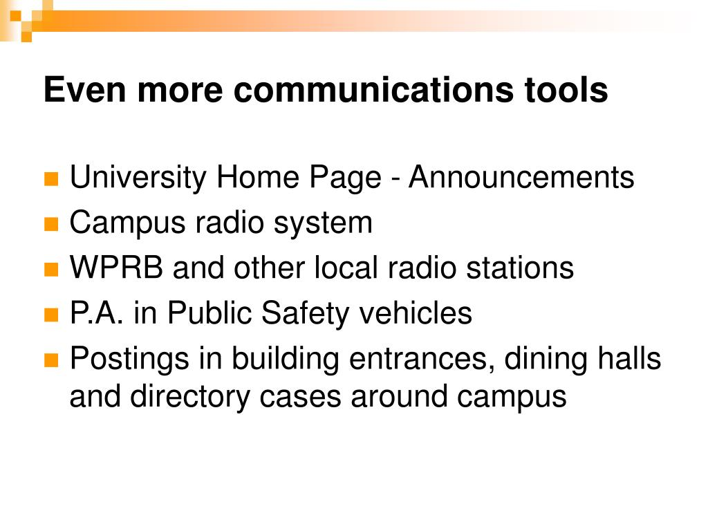Even more communications tools
