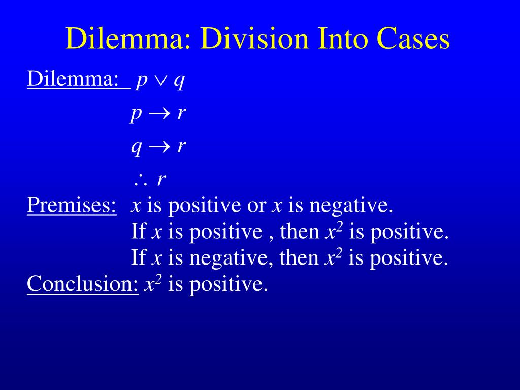 dilemma division into cases
