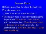 inverse error