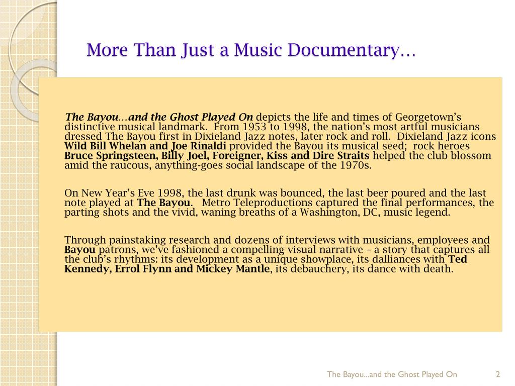 More Than Just a Music Documentary…