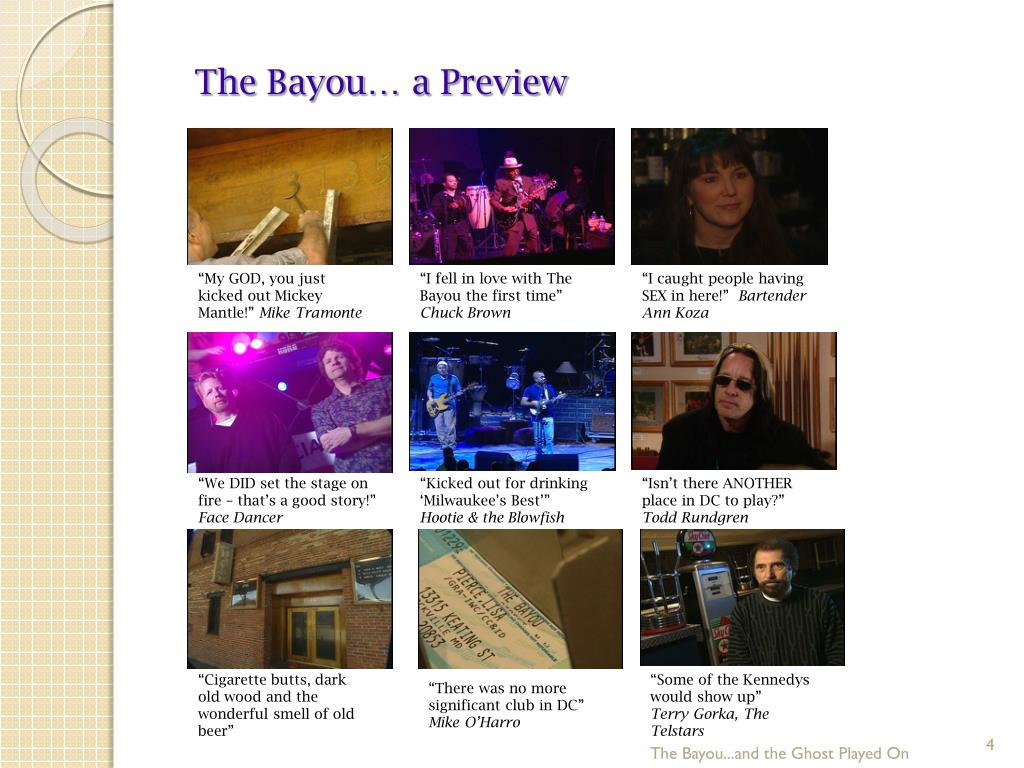 The Bayou… a Preview