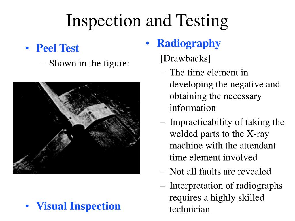 PPT - Inspection and Testing PowerPoint Presentation - ID:684497