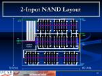 2 input nand layout