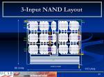3 input nand layout