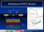 published otft model