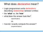 what does declarative mean