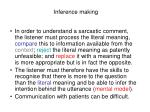 inference making