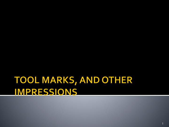 tool marks and other impressions n.