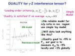 duality for g z interference tensor10