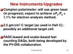 new instruments upgrades