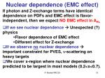 nuclear dependence emc effect
