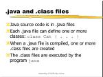 java and class files