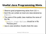 useful java programming hints