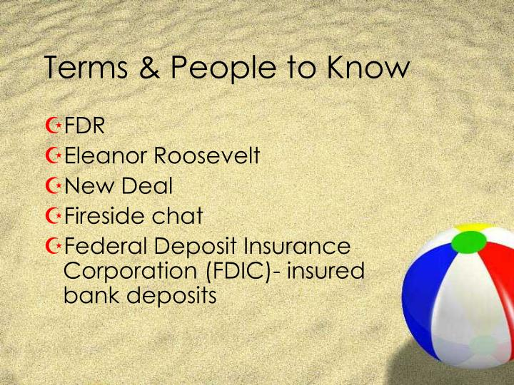 Terms people to know