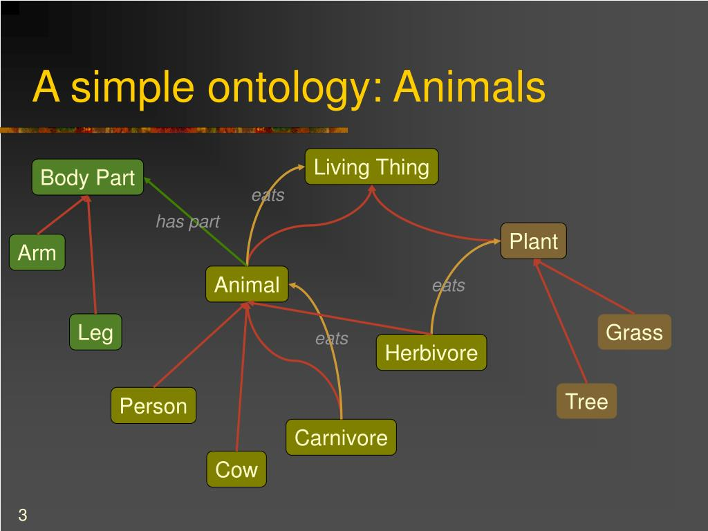 A simple ontology: Animals