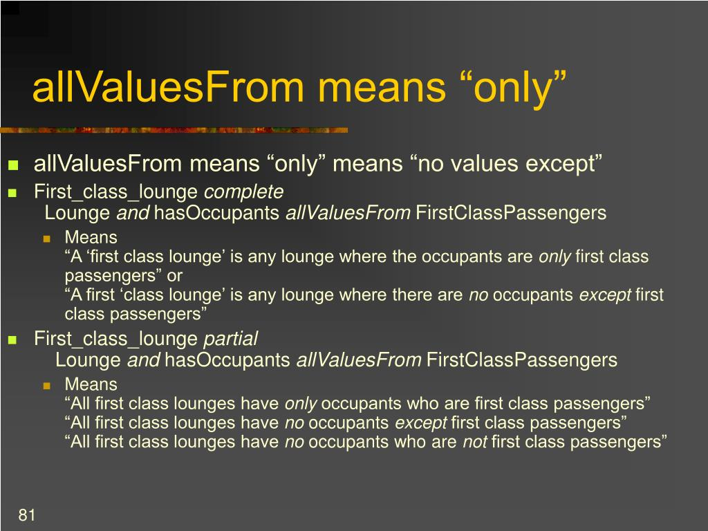 """allValuesFrom means """"only"""""""