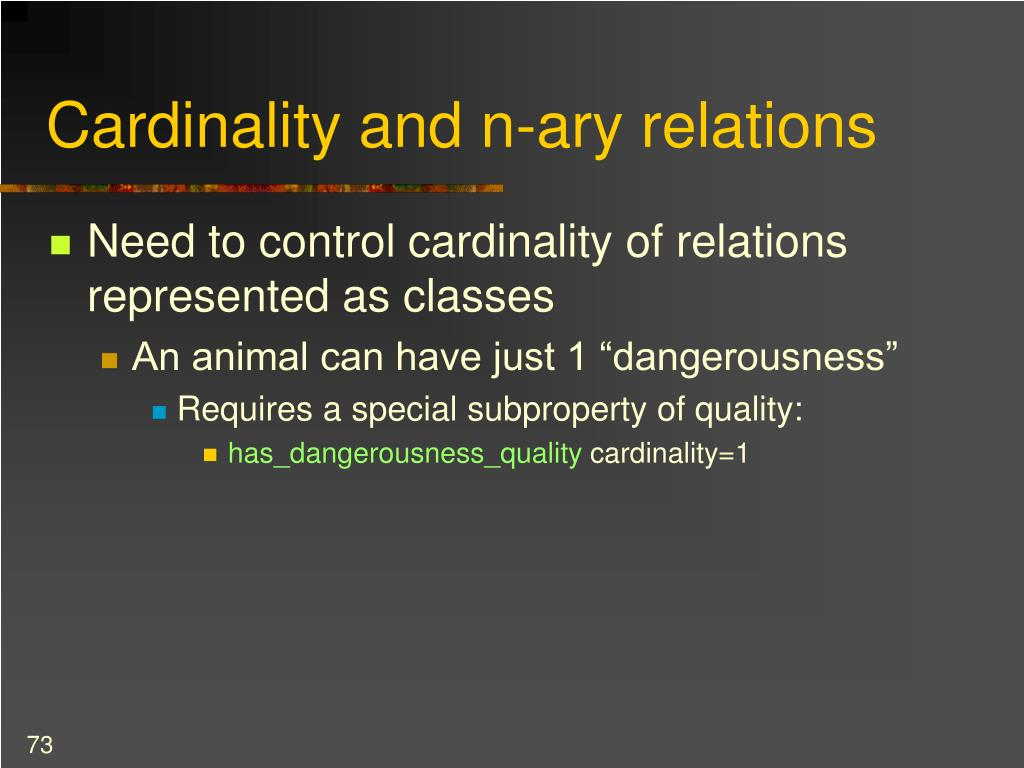 Cardinality and n-ary relations