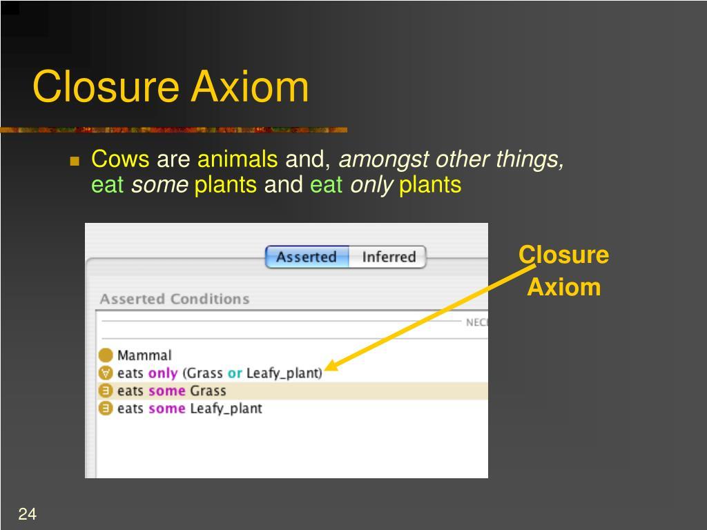 Closure Axiom