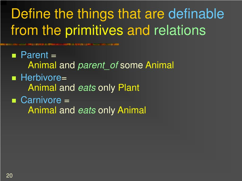 Define the things that are