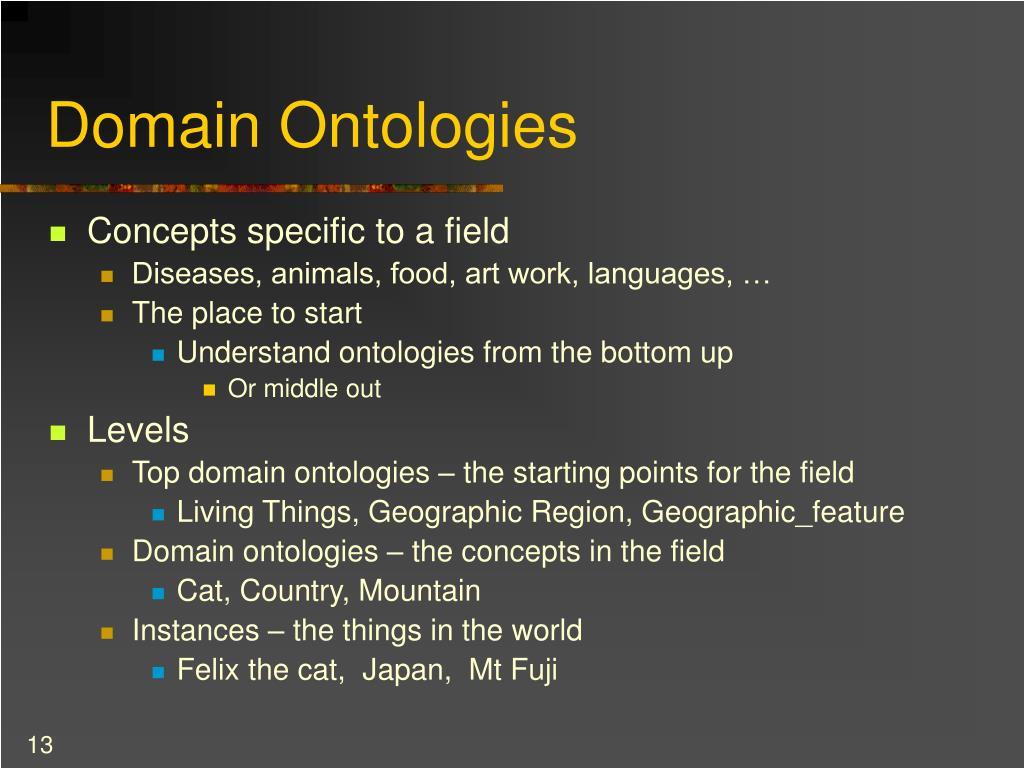 Domain Ontologies