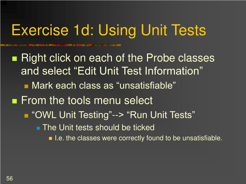 Exercise 1d: Using Unit Tests