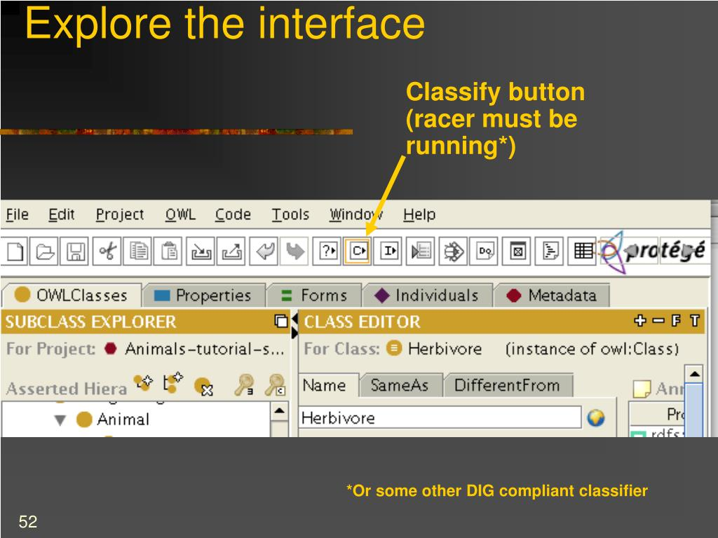 Explore the interface